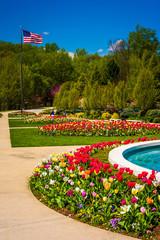 Gardens at the Washington DC Mormon Temple in Kensington, Maryla
