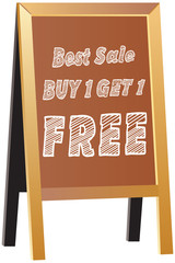Buy one Get one Free label or tag vector isolated on traditional