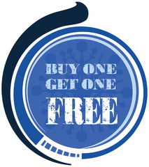 Buy one Get one Free label or tag