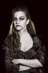 Portrait of a vampire. Halloween theme