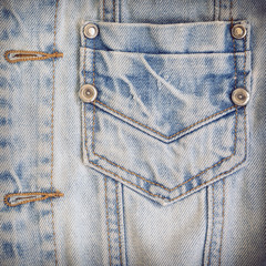 jean shirt with pocket and metal button on clothing textile indu