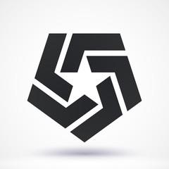 Abstract Star logo. Vector illustration