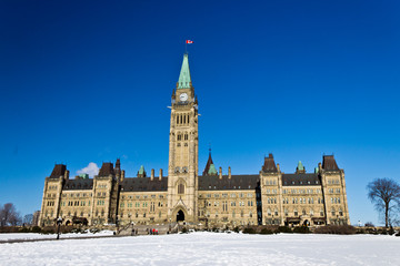The Canadian Parliament Hill in Ottawa, Canada