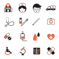 Icons set : Health care, Medical Object