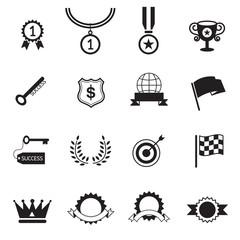 B&W icons set : Success, Award Object