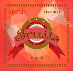 Cherries on triangular background