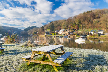 Winters morning riverside