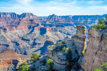 South rim view of Grand Canyon