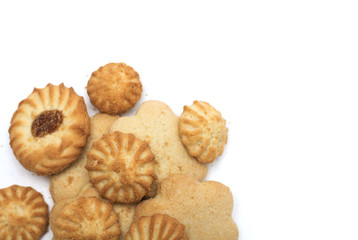 Tea time - different tea biscuits. Photo.