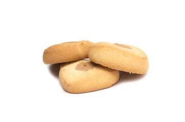 Heart shaped cookies. Dessert. Photo.