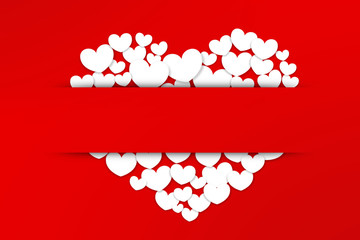 Valentines Day, red background heart  sticky