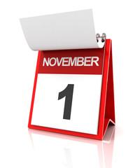 First of November calendar