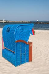 Strandkorb am Ostseestrand