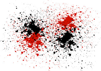 Abstract background with red and black color splatters