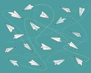 Paper planes pattern b