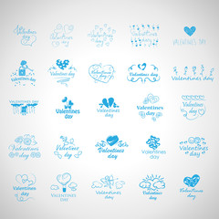 Valentines Day Icons Set - Isolated On Gray Background - Vector Illustration, Graphic Design, Editable For Your Design. Valentines Day