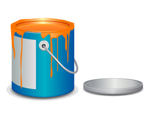 Open paint bucket