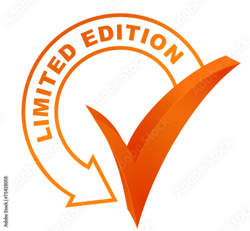 Limited Edition Symbol Validated Orange Stock Image And Royalty