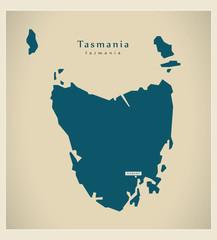 Modern Map - Tasmania AU
