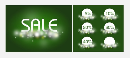 Green shine sale set