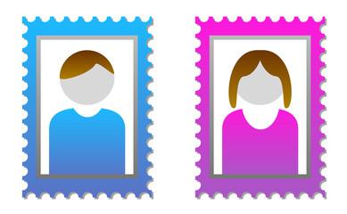2 Platzhalter für Userbilder männlich und weiblich