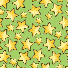 Seamless pattern with cartoon stars