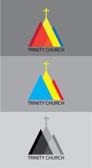 Trinity church, art vector logo design