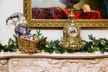 Interior decoration in New Year