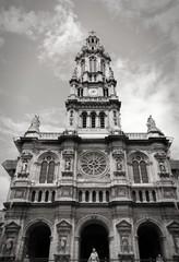 Paris retro - black and white image