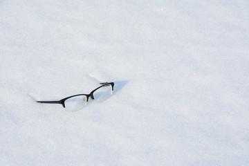 Eyeglasses on the Snow