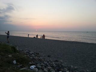 Puesta del Sol en la Ceiba, Honduras.