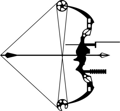 Modern Hunting Bow and Arrow