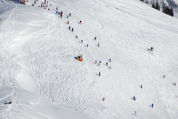 Alpin Ski fahren extreme