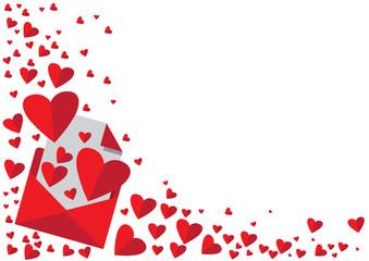 love heart letter illustration