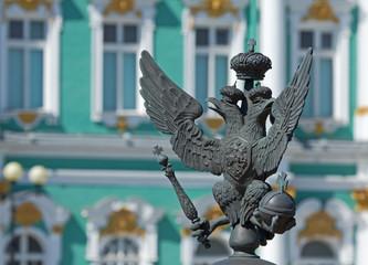 Double-headed eagle on Alexander column, Saint Petersburg