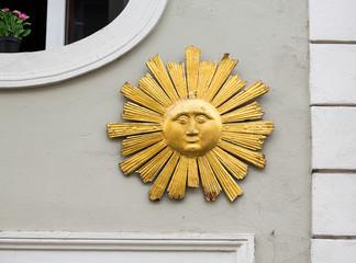 Sun carving in Regensburg Germany