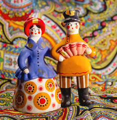 Dymkovo toy couple, Russia