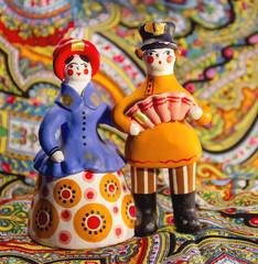 Dymkovo toy couple, Russia