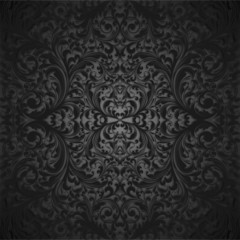 Black vintage seamless background