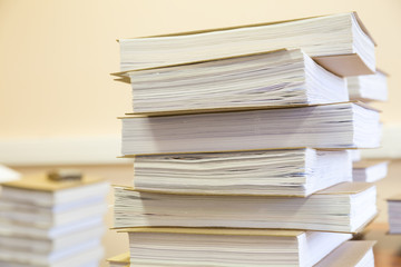 stack of working documents