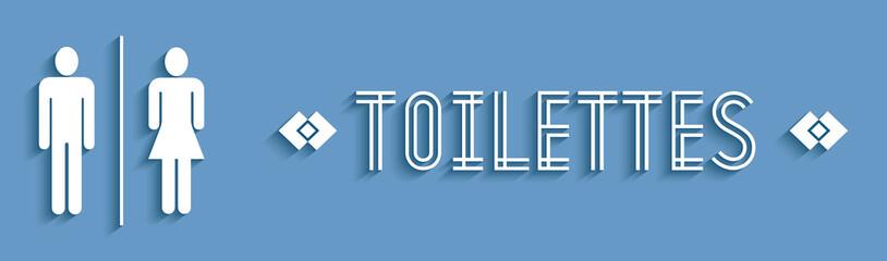 Signalétique toilettes.