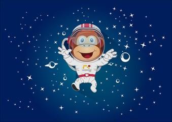 Monkey mascot space