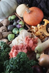 seasonal autumn vegetables