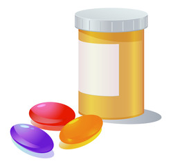 Gel capsule and container