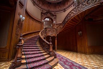Rich entrance hall in the Lviv ancient casino, Ukraine