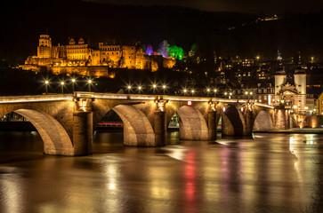 Famous castle in Heidelberg, Germany