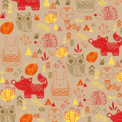 animal tribal background