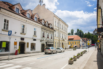 street in Kamnik city, Slovenia