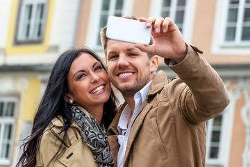 Selfie eines Paares