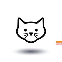 cat icon, vector illustration